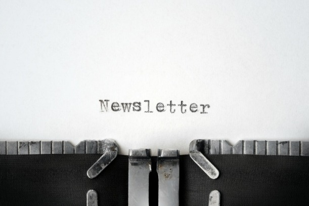 """Newsletter"" written on an old typewriter"